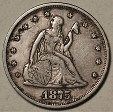 1875 20-cent Piece Choice Original XF **Low Mintage** Lovely Appeal  No Reserve