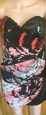STUNNING WOMAN'S LIPSY LONDON BLACK AND RED PARTY DRESS SIZE UK:12  EUR:38
