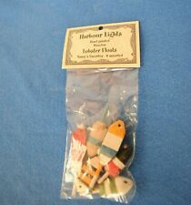 Harbour Lights Hand Painted Wooden Mini Lobster Floats, New.