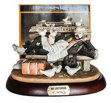 "Emmett Kelley Jr ""No Loitering"" Porcelain Figurine - Signed"