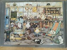 Complete 500 piece Ravensburger Jigsaw. Titled 'Crazy cats in the potting shed'