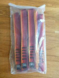 10 Stück Kong Expressschlingen / Exen rot, Klettern, 20cm lang, 20mm breit