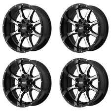 MOTO METAL MO970 MO97089067318 18X9 18MM OFFSET 6X135/6X139.7 BLK SET OF 4 RIMS