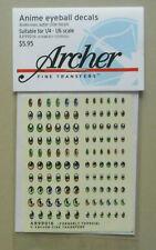 ANIME EYEBALL EYES DECAL SHEETS ARCHER TRANSFERS MODEL ACCESSORY 99016