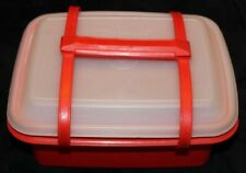 VTG! Tupperware Orange Pack-N-Carry Lunch Box Food Storage Container 1255-15