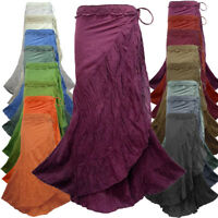Peasant Boho Hippie Gypsy Crochet Waist Long Wrap Skirt NG4M