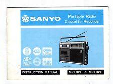 SANYO - M2102H  -  OPERATING INSTRUCTIONS   ( ORIGINAL BOOK )