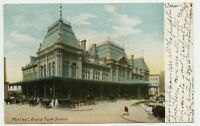 Montreal  Quebec Railroad Station Postcard from Huntingdon 1907