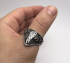 Ottoman Signature 925K Sterling Silver Men's Thumb Ring