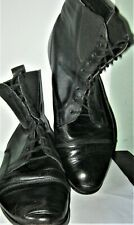 Vintage 1980's Victorian lady-style ankle boots. Size UK 8 (Euro 41). Black