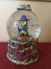 witch halloween waterglobe wallace (led eyes, lights, and blower)