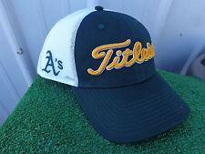 Titleist Oakland A's MLB Mesh Back Adjustable Snap Back Green Golf Hat Cap NEW