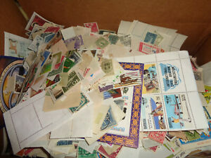 WORLDWIDE BOXLOT, OVER 3 LBS OF STAMPS, OFF PAPER, UNCHECKED, BOX 1