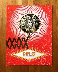 Diplo silkscreened concert poster, Seattle, WA Capitol Hill Block Party 2017