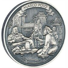 Niue-  2015 - 2 OZ Silver Proof Coin-  Journeys of Discovery - Marco Polo!!