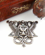 ANTIQUE SILVER Large Egyptian Snake KING TUT Stamping Jewelry Finding (FC-21) *