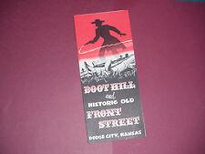 Vintage Boot Hill & Historic Old Front Street Dodge City Kansas Brochure