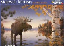 Mark Daehlin White Mountain Jigsaw Puzzle Majestic Moose Complete