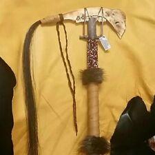 Native American Tomahawk Made W/ Deer Jawbone (18in)