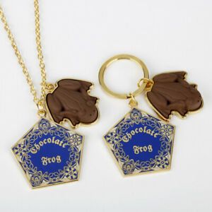 Harry Potter Chocolate Frog Necklace Keychain Key Rings 2 Pendant keyrings Gift