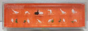 Preiser 14167 HO Ducks, Geese & Swans Figures (Set of 12)