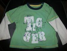 Disney Tigger Pale Green Boys Long Sleeved T-Shirt Top - Age 12-18 Months