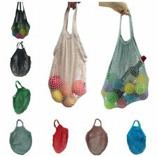 Portable Tote Reusable Fruit Shopping Net Bag Woven Mesh Bag Shopper Handbag US