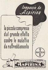 Z3740 ASPIRINA - Bayer - Pubblicità d'epoca - 1940 vintage advertising