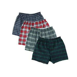 New Fruit of the Loom Men's Big and Tall Woven Boxer Underwear (4 Pack)