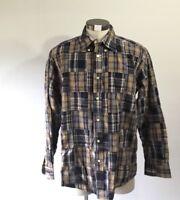 vintage Tommy Hilfiger Men's size large Patchwork Long Sleeve Buttoned Shirt