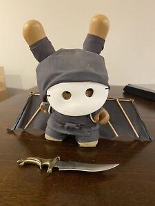 "Huck Gee Storm Clan Custom Assassin Ninja 8"" Dunny Art Toy USED Kidrobot RARE 07"