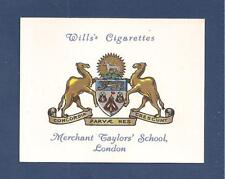 MERCHANT TAYLORS' SCHOOL  Coat of Arms  Old Merchant Taylors original 1934 card