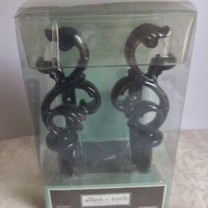 Allen + Roth holbacks embrasse # 036927 color black new item