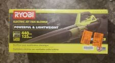 New listing Ryobi Electric Jet Fan Blower 135 Mph 440 Cfm 8 Amp Corded Model Ry421021