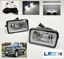 LED Fog Light Kit For 15-17 Ford F150/ 17-18 Super Duty F250 Wire Harness Switch