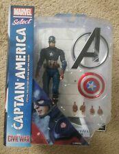 "Diamond Marvel Select CAPTAIN AMERICA Civil War 7"" Action Figure NEW/SEALED"