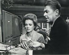 Angie Dickinson Hand Signed 8x10 Photo Rare Pose With Ronald Reagan To Mike