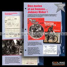 #jh710.02 ★ 1963-1972 JOHNNY ET LA MOTO (SYLVIE VARTAN) ★ Fiche JOHNNY HALLYDAY