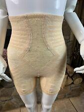 VINTAGE.RAGO OF NEW YORK Nude 4-GARTER OPEN-CROTCH PANTY GIRDLE S ~STYLE 6207