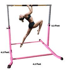 5Ft Horizontal Bar Athletic Teens Adjustable Kip Gymnastics Junior Bars Pink New