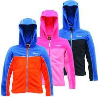 Regatta Marty Kids Hooded Fleece Full Zip Girls & Boys Multi Colours