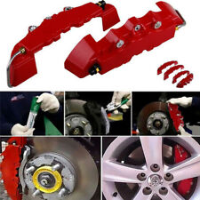 4Pcs Red 3D Style Brake Caliper Covers Universal Car Brake Disc Front&Rear Kits