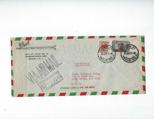 MEXICO-COVERS-OLDER-AIRS-(4)-USED-FINE- EXTERNAL-NICE FRANKING-#130
