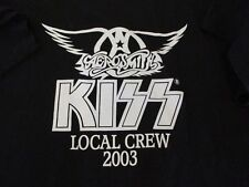 KISS AEROSMITH CREW shirt - pre-owned, LARGE GREAT CONDITION