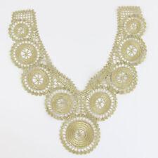 NEU Gold Spitze Venedig  Borten Handwerk Ausschnitt Rund Pattern Nähen Kleidung