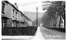 Main Road Bamford Nr Hathersage unused RP old postcard A W Bourne
