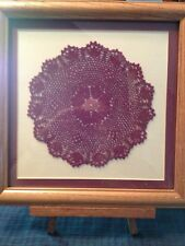 Burgundy Doiley, Professionally Matted and Framed.