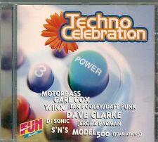 CD COMPIL 14 TITRES--TECHNO CELEBRATION--MOTORBASS/CARL COX/WINX/DJ SONIC/CLARKE
