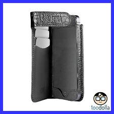SENA Hampton Wallet Case, Genuine Full Grain Leather, iPhone 5/5s, Croco Black