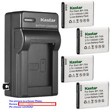Kastar Battery AC Wall Charger for Samsung BP-70A & Samsung ST77 ST78 Camera